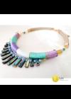 Menta zöld, lila, egyedi, kézműves, designer, nyakék, nyaklánc - Liv Ékszerek, ékszer