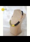 Fekete, neonsárga, szürke,egyedi, kézműves design nyaklánc