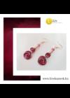 Piros, lila, fekete, egyedi, kézműves, fém, csiga fülbevaló - Liv Ékszerek, ékszer