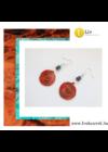 Narancssárga,  türkiz, egyedi, kézműves, csiga,fülbevaló - Liv Ékszerek,  ékszer