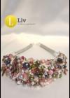 Gyöngyös nyakék, egyedi, kézműves, design, gyöngy nyaklánc