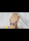 Bohó Nyakék - boho stílusú ,fehér, kék, barna nyaklánc