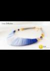 Kék Árny -  Egyedi, kézműves pamut nyaklánc