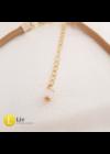Púderrózsaszín,  bézs egyedi, dizájner nyaklánc