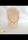 Színes, csíkos egyedi dizájner pamut nyaklánc