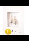 Ezüst,  rosegold,  és türkiz,  egyedi, kézműves fülbevaló - Liv Ékszerek,  ékszer