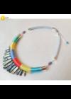 Színes, egyedi, kézműves, designer nyaklánc, nyakék - Liv Ékszerek, ékszer .