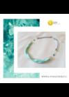Türkizzöld, ezüst színű, egyedi, kézműves, designer, hullám nyaklánc - Liv Ékszerek, ékszer