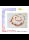 Barackvirág színű,  egyedi, kézműves, designer,  hullám karkötő - Liv Ékszerek, ékszer