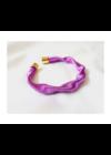 Lila színű, egyedi, kézműves, designer hullám karkötő - Liv Ékszerek, ékszer