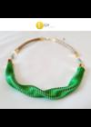 """Smaragdzöld, almazöld, egyedi, kézműves, designer """"hullám"""" nyaklánc - Liv Ékszerek, ékszer"""