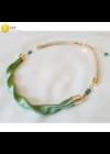 Almazöld, egyedi, kézműves, designer, hullám nyaklánc, karkötő ékszerszett - Liv Ékszerek, ékszer