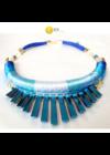 Kék árnyalatai, egyedi, kézműves nyaklánc, nyakék - Liv Ékszerek, ékszer