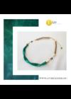Smaragdzöld, egyedi, kézműves, design, hullám nyaklánc  - Liv Ékszerek, ékszer