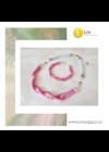 Rózsaszín, ezüst színű, egyedi, kézműves, designer, hullám nyaklánc, karkötő ékszerszett - Liv Ékszerek, ékszer
