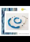 Égszínkék, ezüst színű, egyedi, kézműves, designer, hullám nyaklánc, karkötő ékszerszett - Liv Ékszerek, ékszer