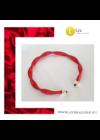 Piros, egyedi, kézműves, designer, környaklánc