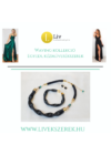 Fekete, egyedi, kézműves hullám nyaklánc, és/vagy karkötő - Liv Ékszerek,ékszer - akció