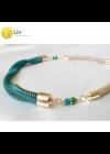 Egyedi, kézműves, designer nyaklánc, színes nyaklánc,ajándék
