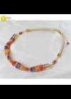Barna, rózsaszín, bézs színű, egyedi, kézműves, designer nyaklánc - Liv Ékszerek - Liv Ékszerek, ékszer