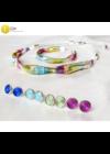 Színes, egyedi, kézműves nyaklánc, karkötő, ékszerszett, pont fülbevalókkal- Liv Ékszerek