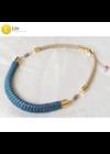 Kék, zöld, lila, kézműves,  designer nyaklánc, színes ékszer