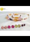 Színes, kézműves nyaklánc-Liv Ékszerek, pontfülbevaló