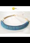 Kék, zöld, lila, kézműves,  designer nyaklánc