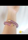 Piros, fehér, kék,  szimpla flexibilis, egyedi, kézműves karkötő