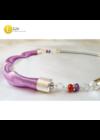 Pasztell lila, kézműves, különböző designer nyaklánc, ékszerszett - Liv Ékszerek, ékszer