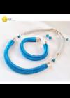 Kék, designer karkötő,  fülbevaló, nyaklánc, ékszerszett