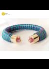 Kék, zöld, lila, kézműves,  designer karkötő, színes ékszer