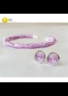 Pasztell lila, kézműves, különböző designer karkötők, fülbevaló - Liv Ékszerek, ékszer