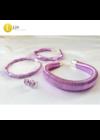 Pasztell lila, kézműves,  karkötő,  karperec, fülbevaló, pontfülbevaló