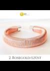 Rosegold, ezüst színű, egyedi, kézműves, 3D-s karkötő