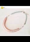 Rosegold, ezüst színű, egyedi, kézműves, 3D-s nyaklánc