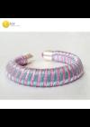 Türkiz, rózsaszín, egyedi mintás, kézműves karkötő - Liv Ékszerek, ékszer