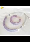 Türkiz, rózsaszín, egyedi mintás, kézműves karkötő,  és/vagy nyaklánc - Liv Ékszerek, ékszer
