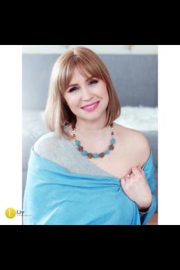 Türkiz, barna, ezüst színű, egyedi, kézműves, designer, bogyó nyaklánc - Liv Ékszerek, ékszer