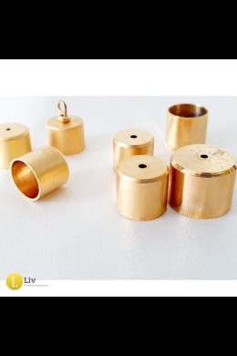 24 karátos arannyal aranyozott kupakszett ( 4 db, a zsinórokra), kicsi méret