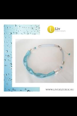 """Türkiz,  ezüst színű, egyedi, kézműves, designer """"hullám"""" nyaklánc - Liv Ékszerek,  ékszer"""