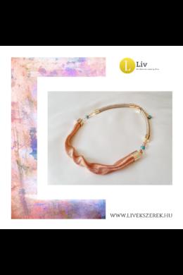 Barackvirág színű,  egyedi, kézműves, designer,  hullám nyaklánc - Liv Ékszerek, ékszer
