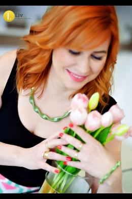 Almazöld, egyedi, kézműves, designer, hullám nyaklánc - Liv Ékszerek, ékszer