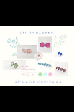 Színes pont fülbevalók,  többféle színben, és méretben- Liv