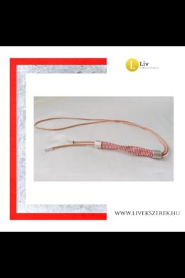 Piros,  ezüst színű, Waving hosszú nyaklánc -Liv Ékszerek, ékszer